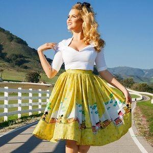 Mary Blair Pinup Girl Clothing Jenny Skirt Sz XL